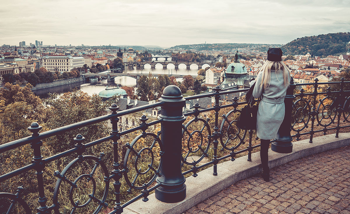 Looking Over The Autumn Prague